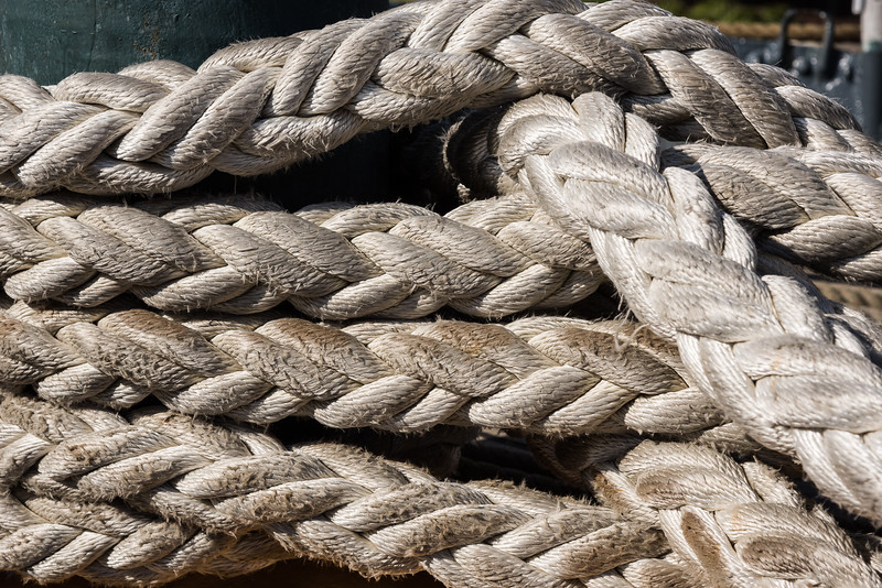 Mooring Line Woven Into a Pattern