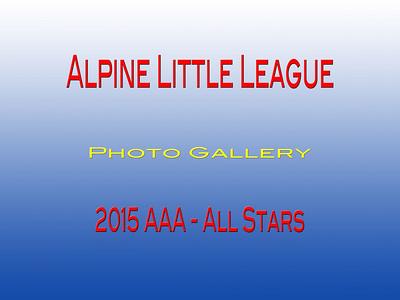 2015 Little League  AAA All Stars