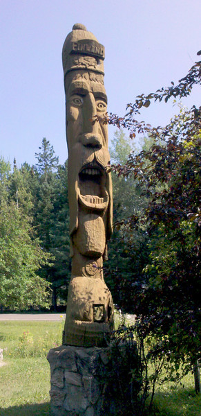 Totem in Finland, MN that was overlooking me when I turned over 20,000 miles. Good omen?