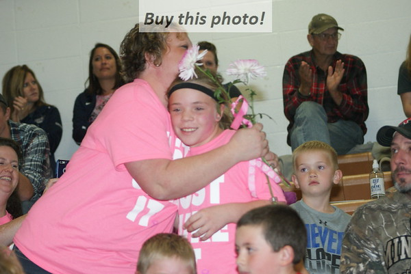 BBE volleyball v. EVW - Dig Pink