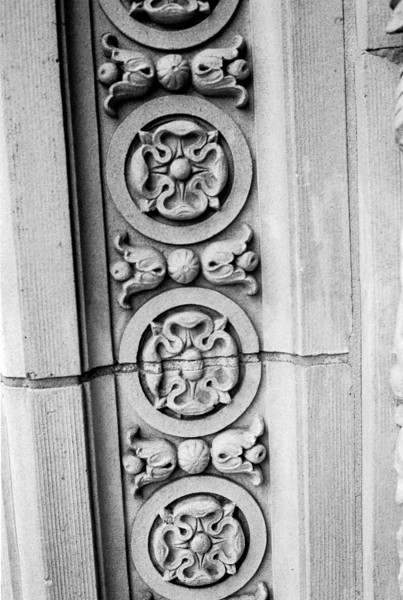 Detail on doorway of the old Dayton Arcade  Canonet QL17 GIII Neopan 400