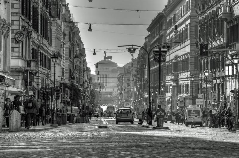 Via Nazionale - Rome, Italy - November 6, 2010