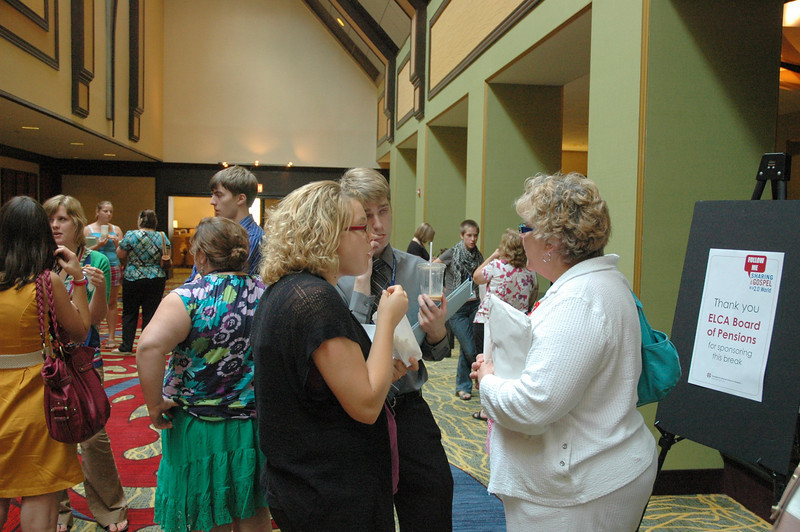 Participants during a break sponsored by the ELCA Board of Pensions