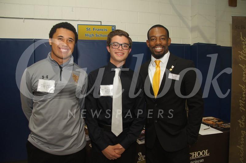 2 Aidan Carlisle, Michael Humphrey and Micheal Perkins of St. Francis High School.jpg