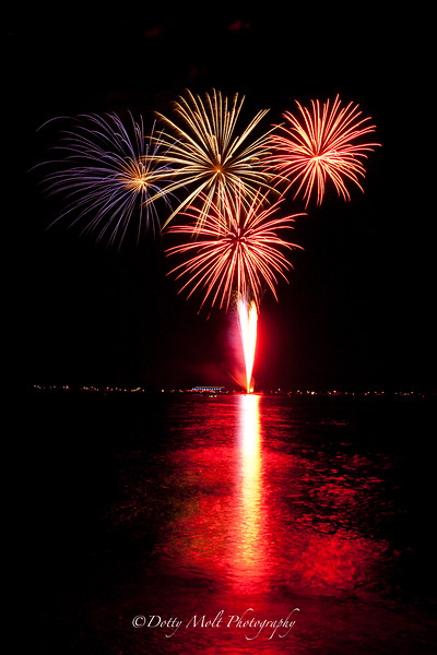 Fireworks over Tahoe