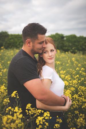 Ellie & Josh   Rapeseed Field Engagement