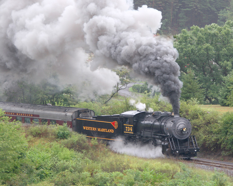 WMSR #734 Western Maryland Scenic Railroad