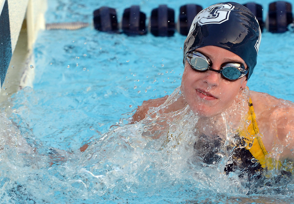 . Nor Gwyn and Hatfield girls 10  and under compete in a butterfly event during their Bux Mont swim Meet at the Hatfield Aquatic Center  on Tuesday July 22,2014.Photo by Mark C Psoras/The Reporter
