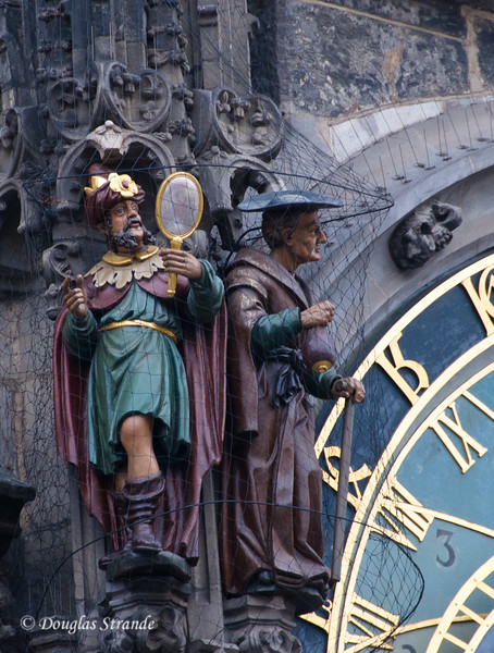 Figures decorate the Astrological Clock in the Old Town Square