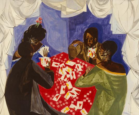 "Jacob Lawrence, ""Card Game"" (1953)"