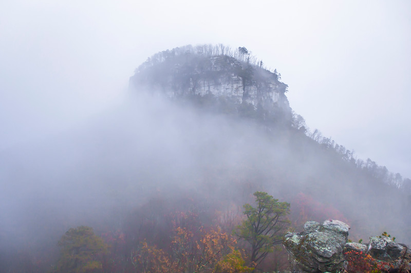 Foggy Pilot Mountain
