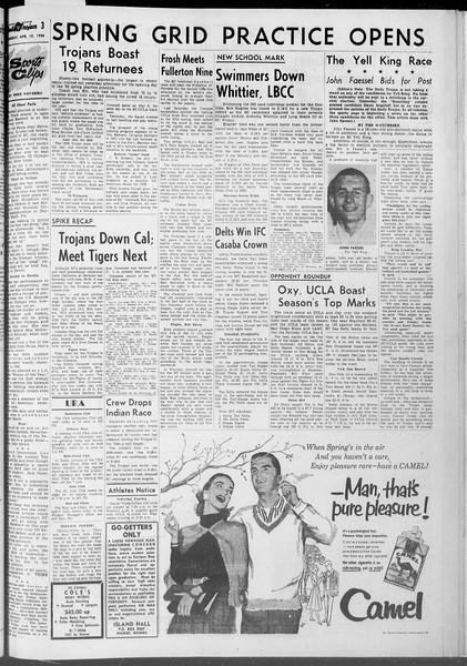 Daily Trojan, Vol. 47, No. 109, April 10, 1956