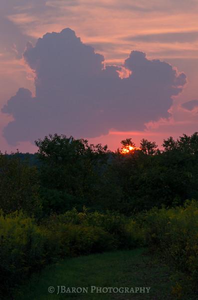 Sunset over the Upper Field