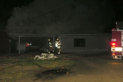 11-10-11 Coshocton FD Garage Fire