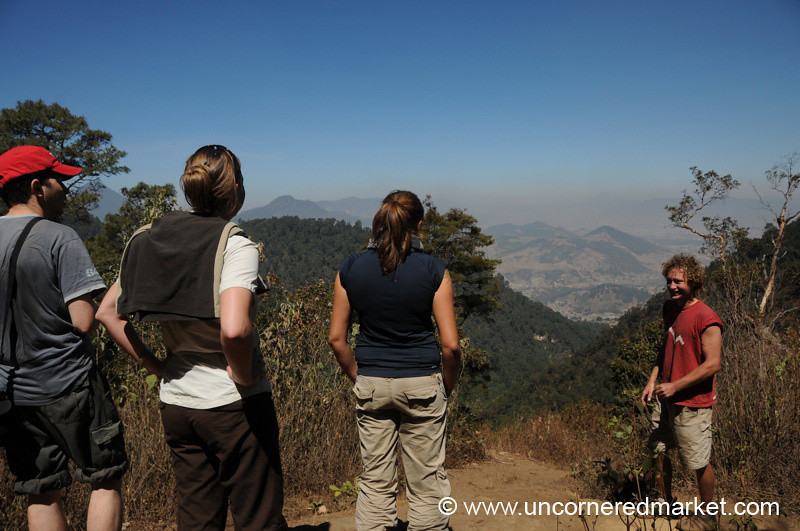 Trekkers Stop for a Vista - Lake Atitlan, Guatemala