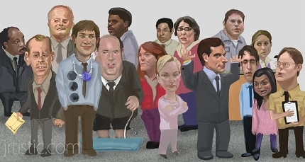 the office staff picture