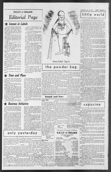 Daily Trojan, Vol. 54, No. 42, November 28, 1962