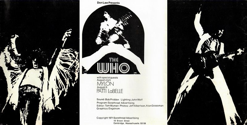 1971 The Who Program