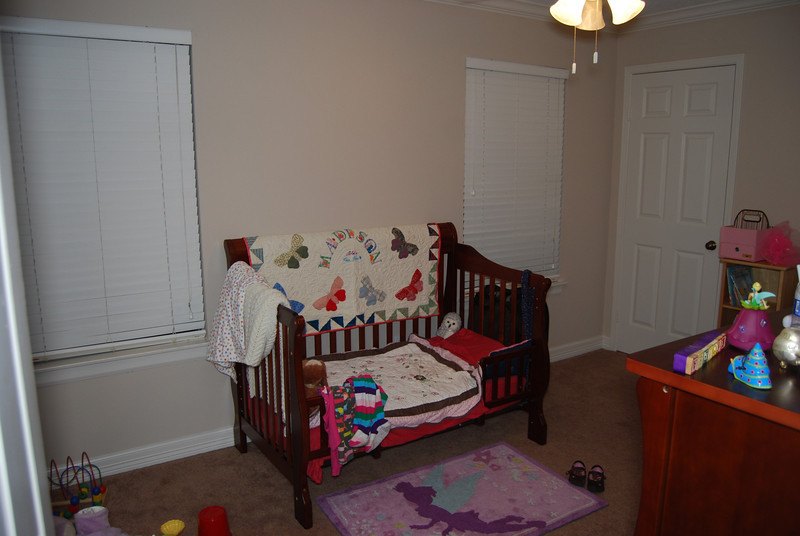 Madi's room.  The only room in the house that's pretty much done.