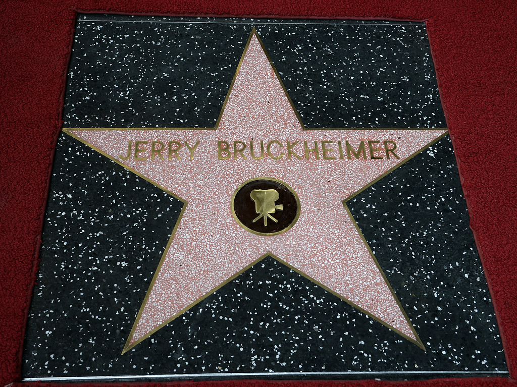 . The star for US producer Jerry Bruckheimer is displayed following a ceremony honoring him on the Hollywood Walk of Fame in Hollywood, California, USA, 24 June 2013. Bruckheimer received the 2,501st star on the Hollywood Walk of Fame.  EPA/MICHAEL NELSON