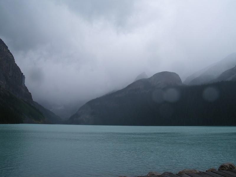 rainy day at Lake Louise (2006)