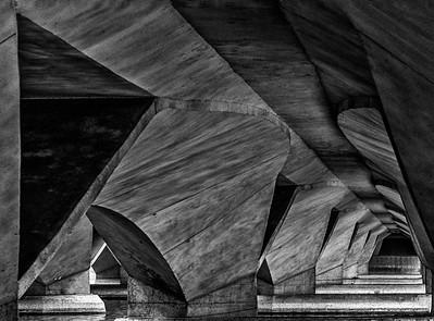 Jubilee Bridge at Marina Bay in Singapore 2013