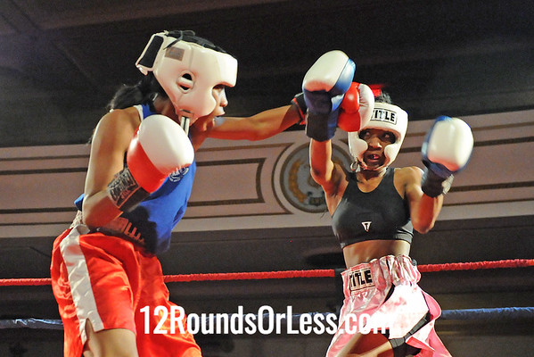 Bout 8 Ahara Archie, Empire BC, Cleveland -vs- Asia Smith, Pal/Thurgood, Cleveland-119 lbs, Novice