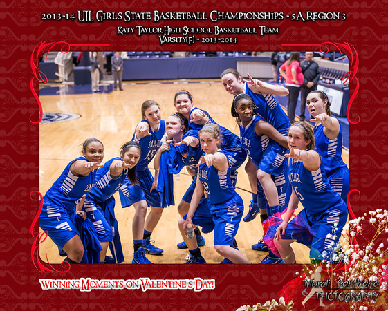 02-14-2014 - Katy Taylor High School vs Cypress Creek - 2013-14 UIL Girls State Basketball Championships
