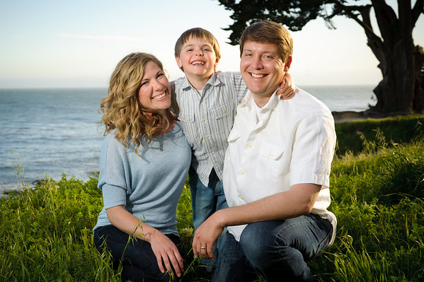 Julie + Derek = Danny (Family Photography, West Cliff Drive, Santa Cruz, California)