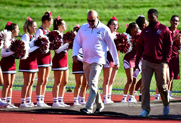 10/4/2019 Mike Orazzi | StaffrBristol Central Head Football Coach Jeff Papazian Friday.