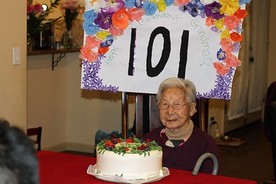 Mom's 101 Birthday - January 29, 2017