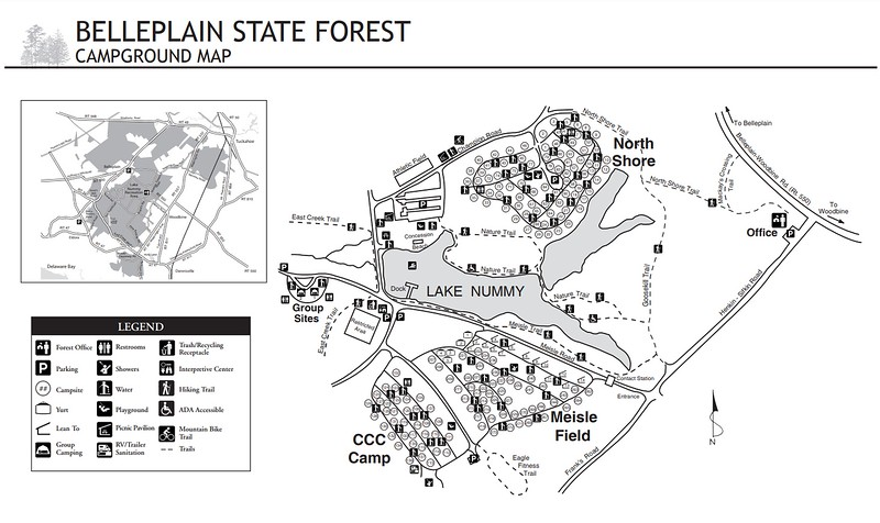 Belleplain State Forest (Campground Map)