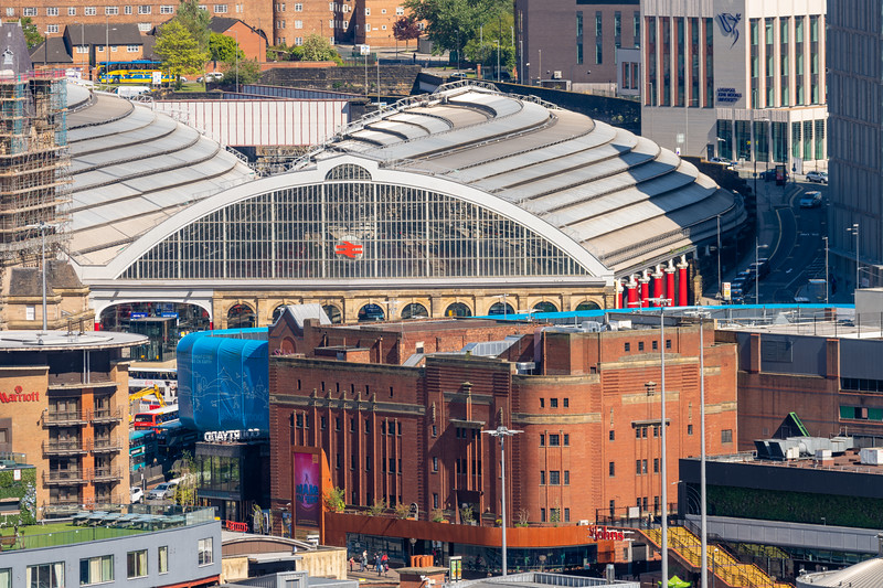 Royal Court Theatre and Liverpool Lime Street Station