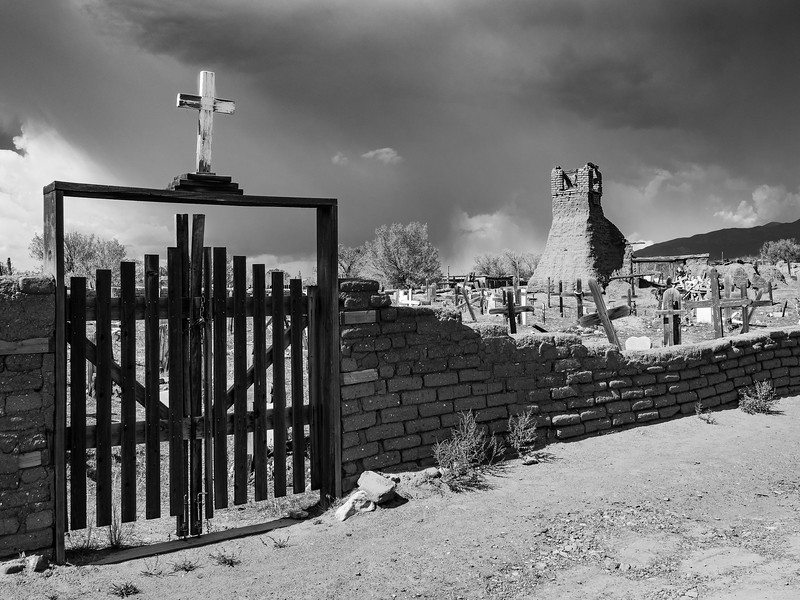 ©2018 Dennis A. Mook; All Rights Reserved; St Geronimo Cemetery (2) b&W-16305.jpg