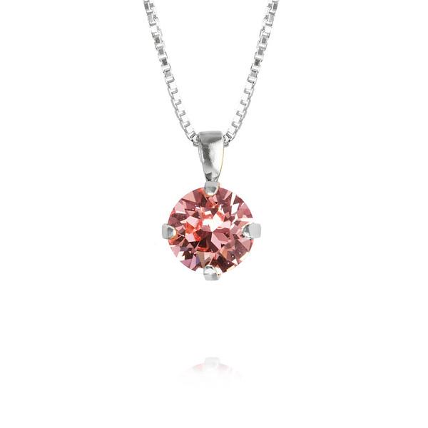 Classic Stud Necklace / Light Rose Rhodium