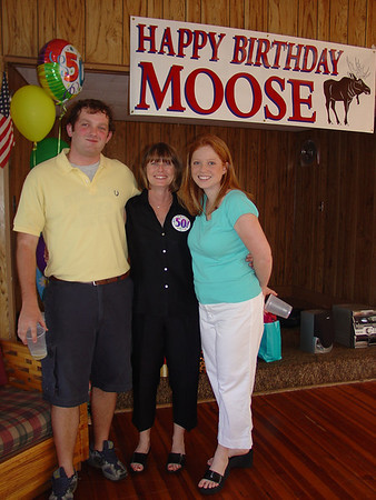 June 2005.Moira's 50th
