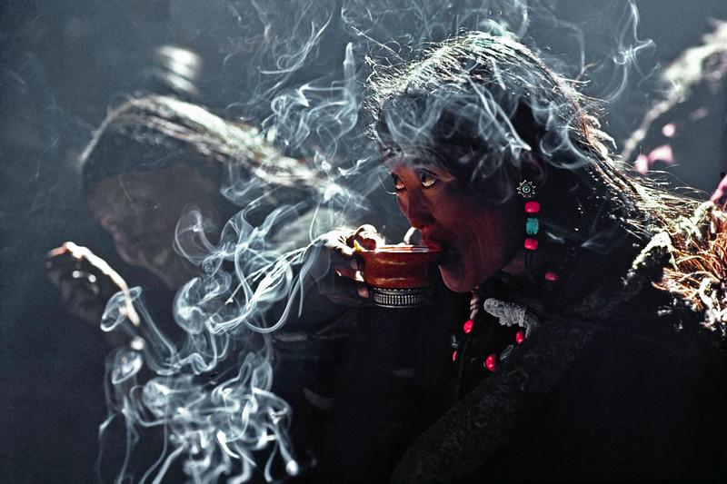 Tibetan Tea Drinker