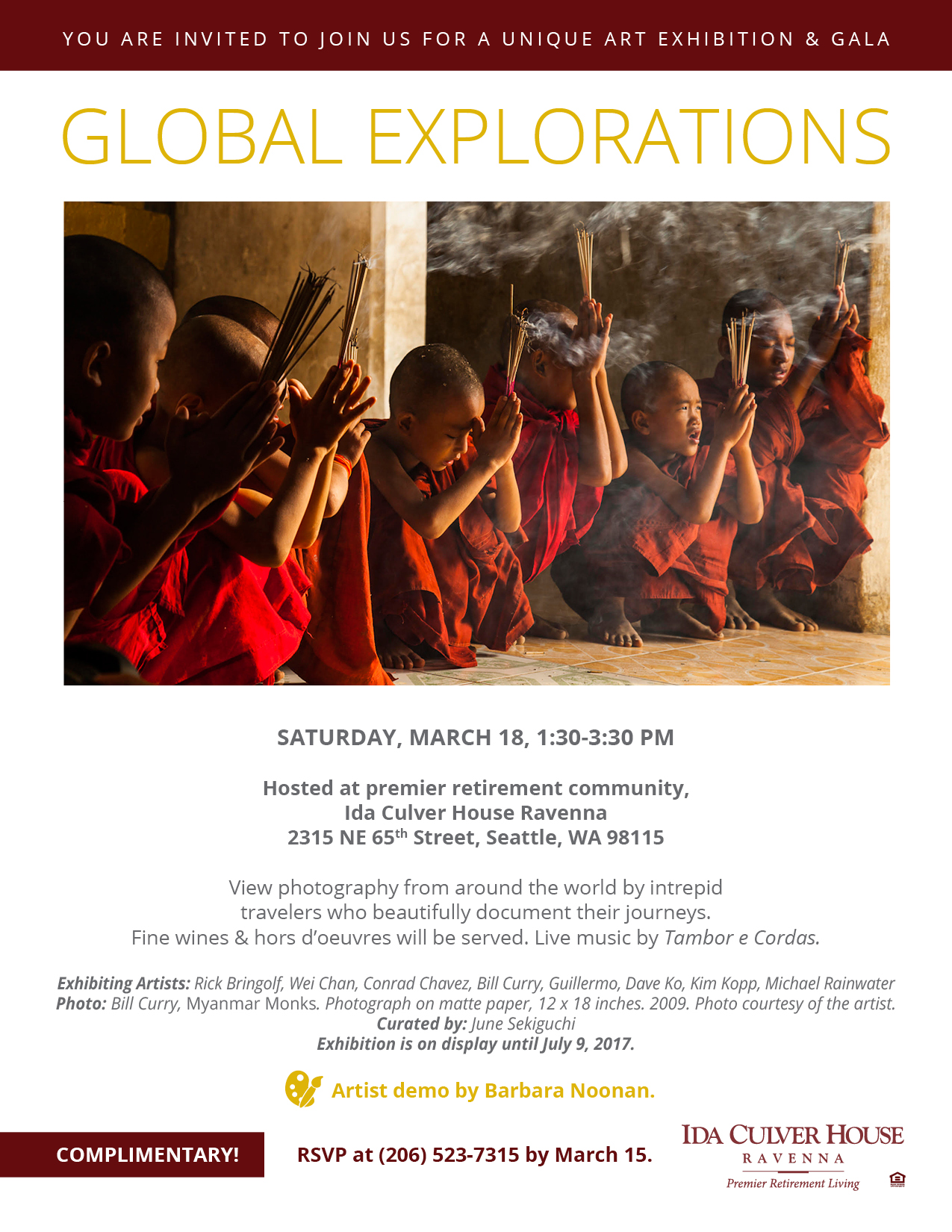 Global Explorations show flyer