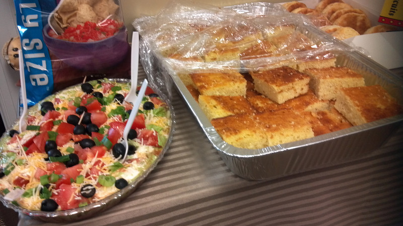 Cornbread and 7 Layer Dip!