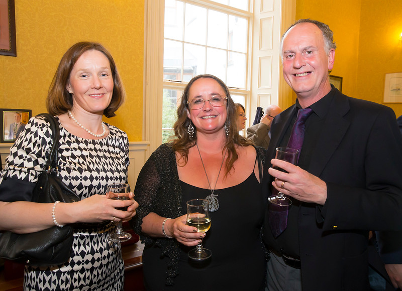 18/05/2016. Irish Accounting & Finance Accociation Annual Conference at WIT (Waterford Institute of Technology). Pictured at The Mayor's reception are Aodhdín Casey, Jill and Barry Atkins. Picture: Patrick Browne