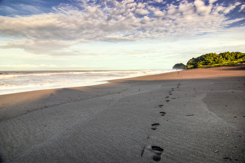 04MAR2012 - This was a pretty scene in Costa Rica.  The waves, the beach and some foot prints of some early birds.  The sun was just springing into action off to our right @ 6am or so.  Any plans for the summer?