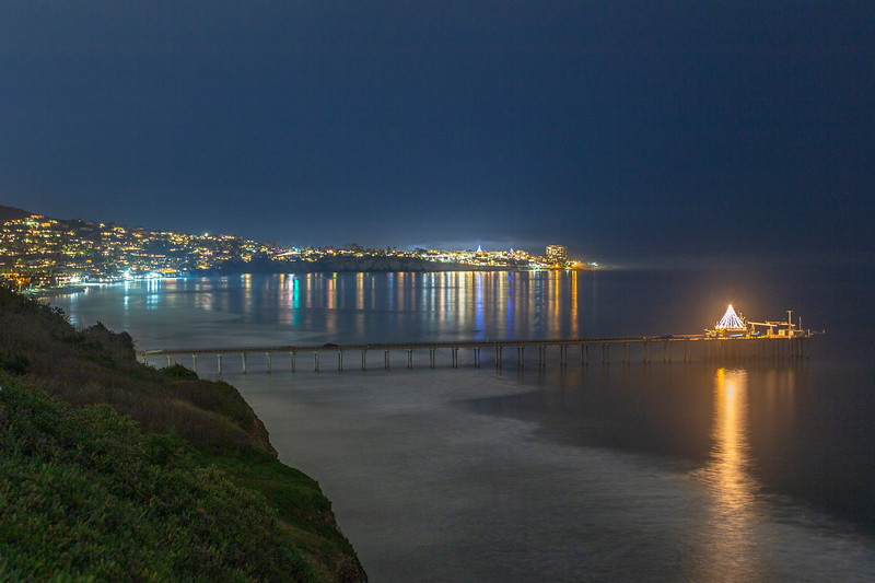 Scripps Pier and La Jolla at Christmastime