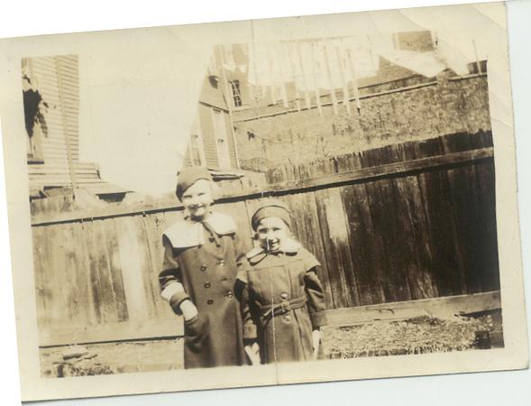 1935: Teresa Brennan, Gloria Kuehne.  460 Lafayette, Brooklyn.