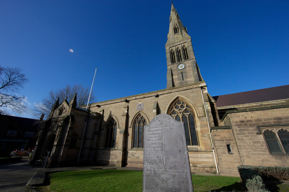 . Leicester Cathedral is pictured in central England on February 4, 2013. The skeleton of King Richard III will be re-interred at Leicester Cathedral, in keeping with archaeological practice to bury remains on the nearest consecrated ground. A skeleton found under a car park in the English city of Leicester was on Monday confirmed as that of king Richard III, widely depicted as one of history\'s most notorious villains. AFP PHOTO/ANDREW COWIE/AFP/Getty Images