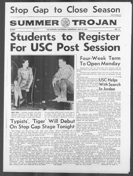 Summer Trojan, Vol. 14, No. 11, July 29, 1964