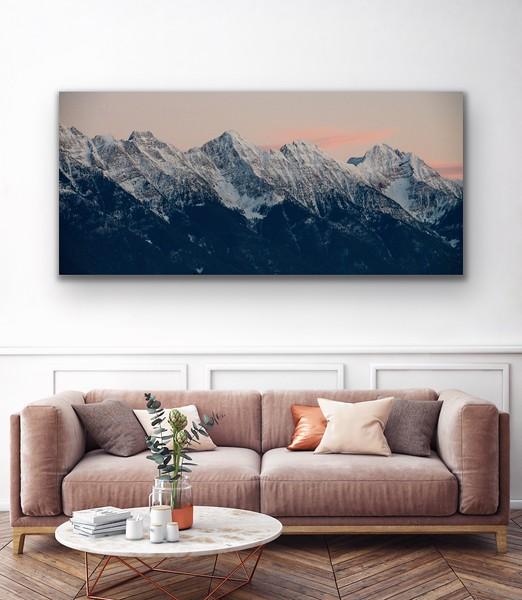 'Winter Ridgeline' Canvas Wrap