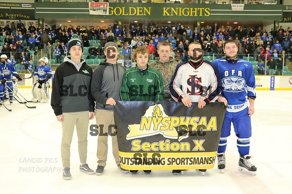 SLC/OFA VARSITY HOCKEY SECTION X  AT CLARKSON ARENA