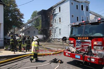 Malden, MA - 3rd Alarm, 49 Stearns Street, 7-6-17