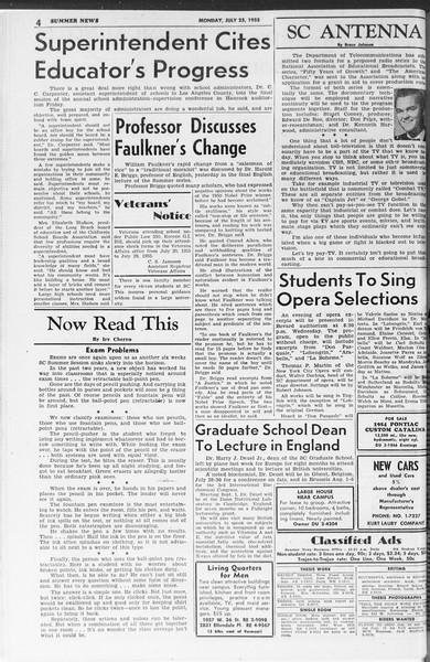 Summer News, Vol. 10, No. 11, July 25, 1955
