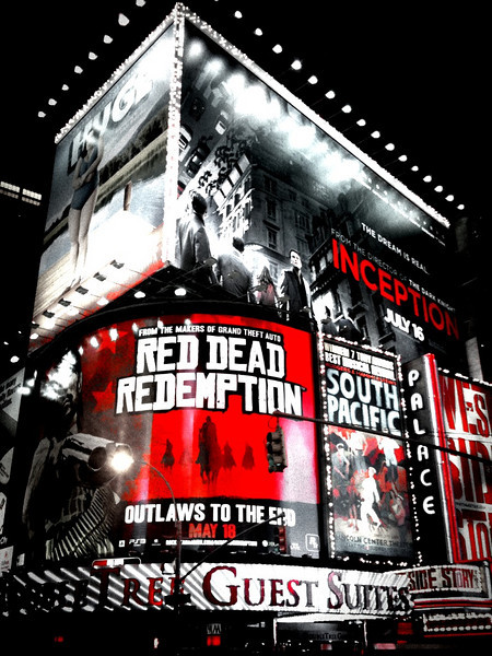 """Times Square with a little """"sin city"""" thrown in"""